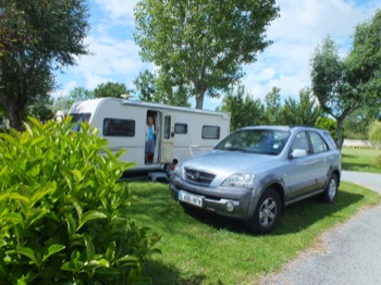 Caravan pitch at Au Pigeonairre