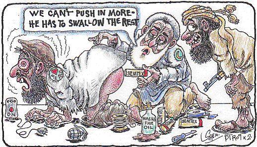 Islam bomb in rectum