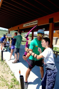 National Ability Center archery range.