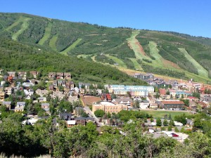 Park City from Lost Prospector trail on Masonic Hill. Found the trail at last.