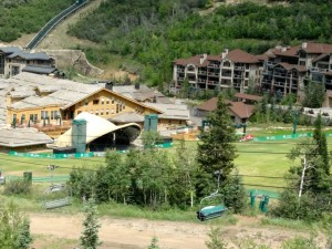 Deer Valley concert venue from the lift.