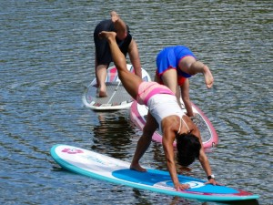 Yoga American style. Perhaps it's less boring than SUP.
