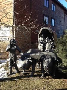 Mormon trek statue.