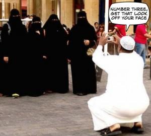 Posing-in-burkas