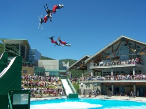 Flying aces stunt show at the Olympic Park.
