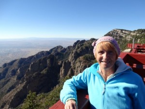 Wendy at the top of Sandia Peak.
