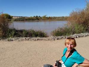 Lunch by the Rio Grande.
