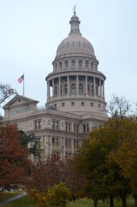Texas State Capitol building. Being Texas it just happens to be 18 feet taller than the one in Washington.