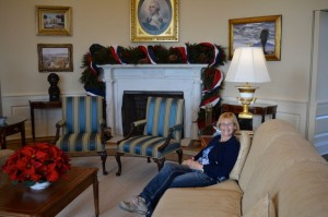 Our new home exchange. Just waiting for afternoon tea and biscuits in the Oval office.