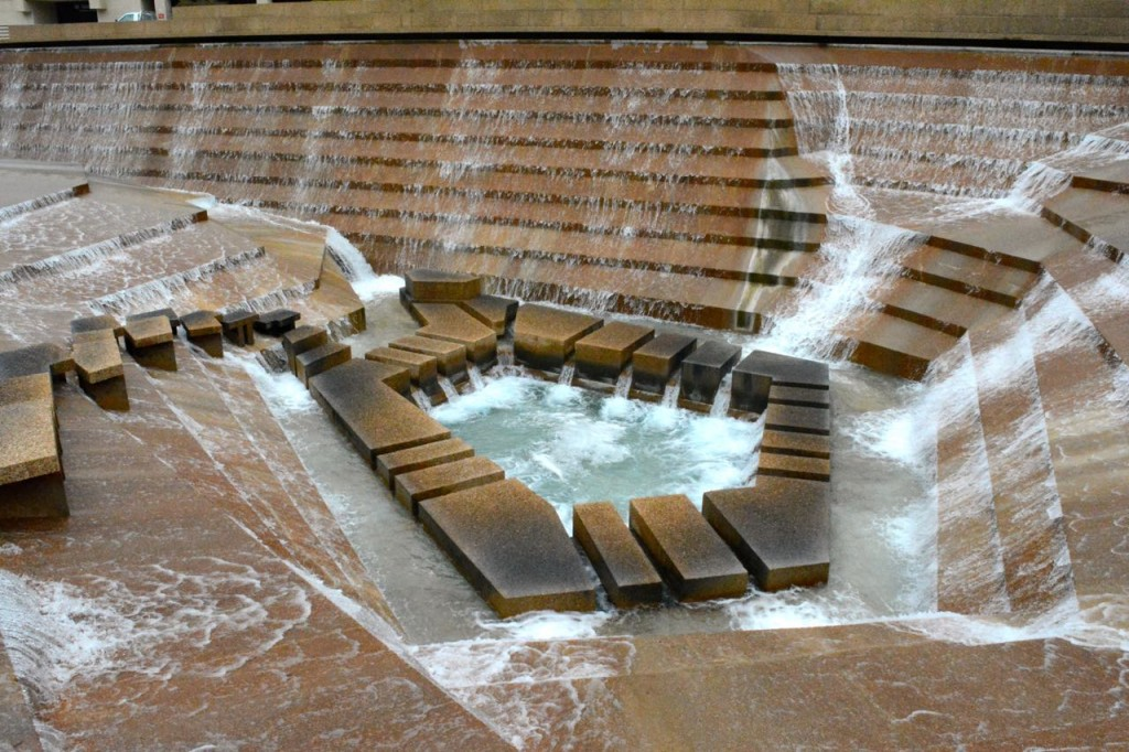 The water cauldron at Fort Worth Water Garden.