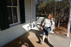 Porch time on the farm at LBJ ranch.