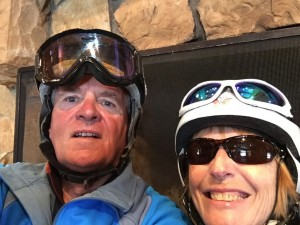 Deer Valley selfie (what a sad doing one of them) by the fire.