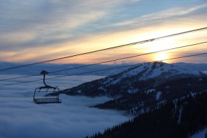 View from above the clouds at Park City.