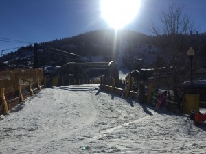 Town lift on a typical sunny day.