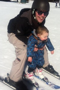 Jasper's ski debut. Hopefully he'll learn to ski moguls better than me.