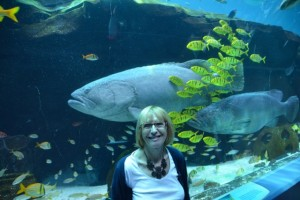 Wendy and big fish.