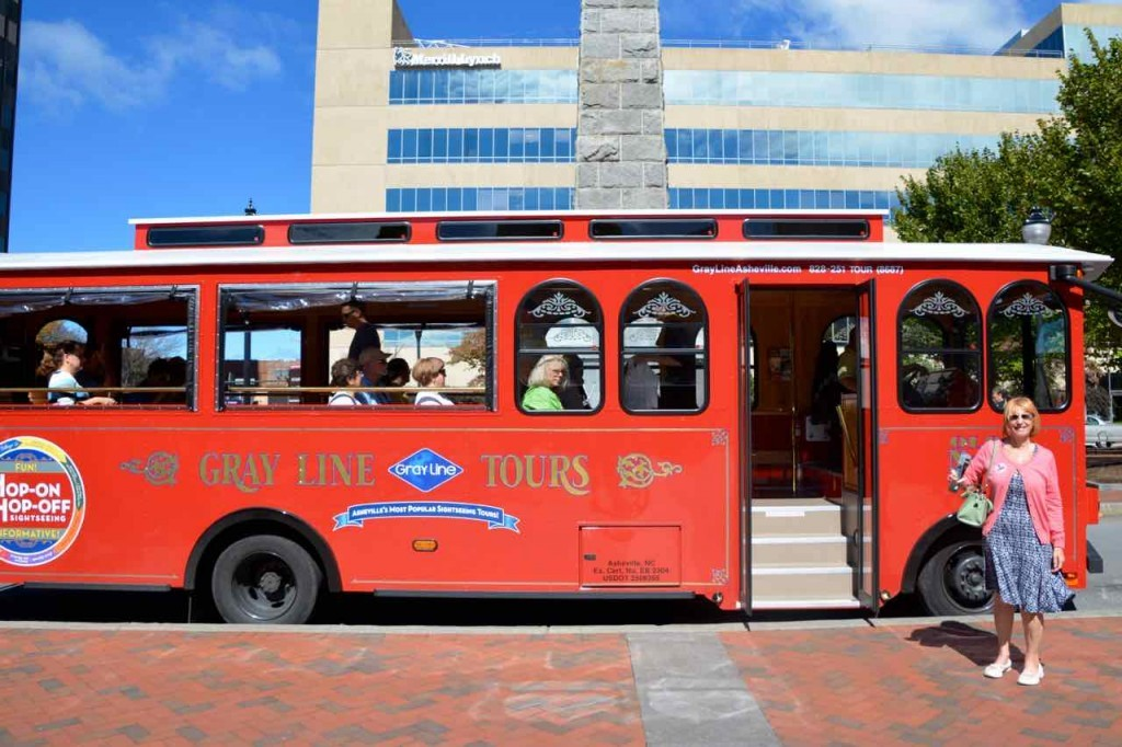 Asheville trolley tour.
