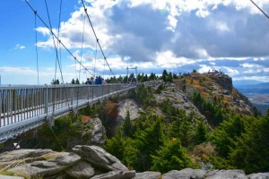 Grandfather mountain mile high swinging bridge - not much of a swing.