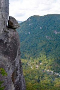View of Devils Head at Chimney rock.