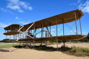 Mockup of original bi-plane used on a day that changed the World, December 17th 1903 at Kitty Hawk.
