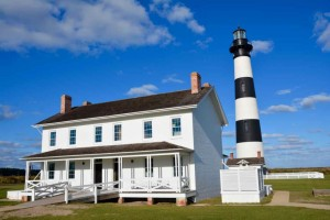 Outer Banks lighthouse at Cape Hatteras.