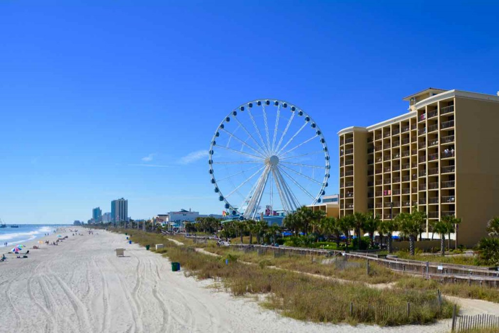 Myrtle Beach - a sort of poor mans Blackpool without the drunken louts and Kiss Me Quick floozies.