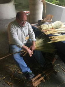 Broom making at the folk art centre.