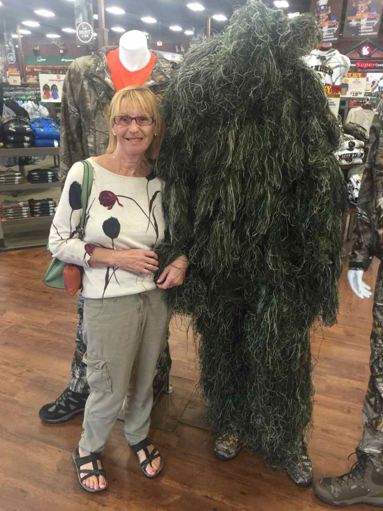Wendy meets the Yetti. Just the suit you need for a spot of poaching.
