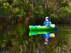 Kayaking in the swamp.