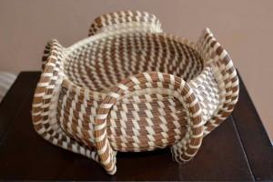 Elephant Ear Sweetgrass basket.