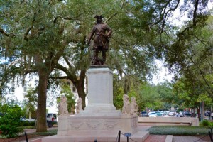Founder of Savannah. A Brit General James Oglethorpe