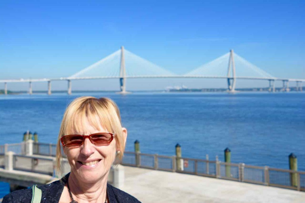 Wendy with the number 3 tourist attraction in Charleston - pots for rags.