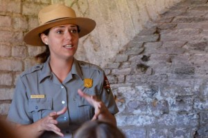 National Park ranger with such passion for her subject.