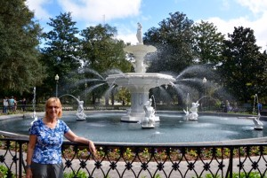 Savannah's famous fountain.