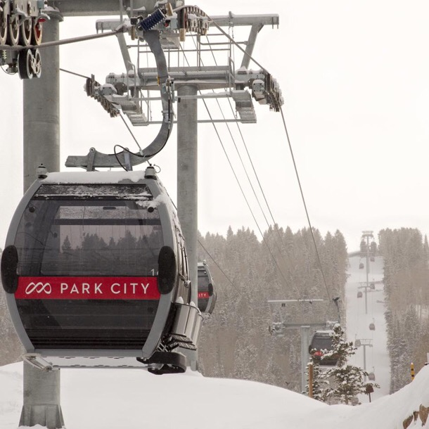 The new gondola linking Park City to the Canyons.