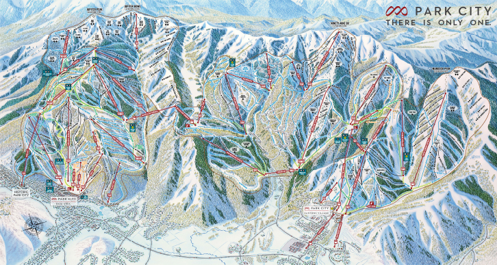 New trail map for Park City. Now the largest ski area in North America.