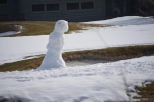 Poor old snowman.