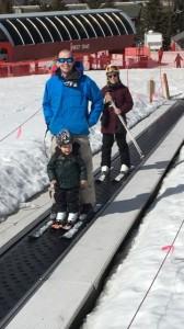 Family ski day.