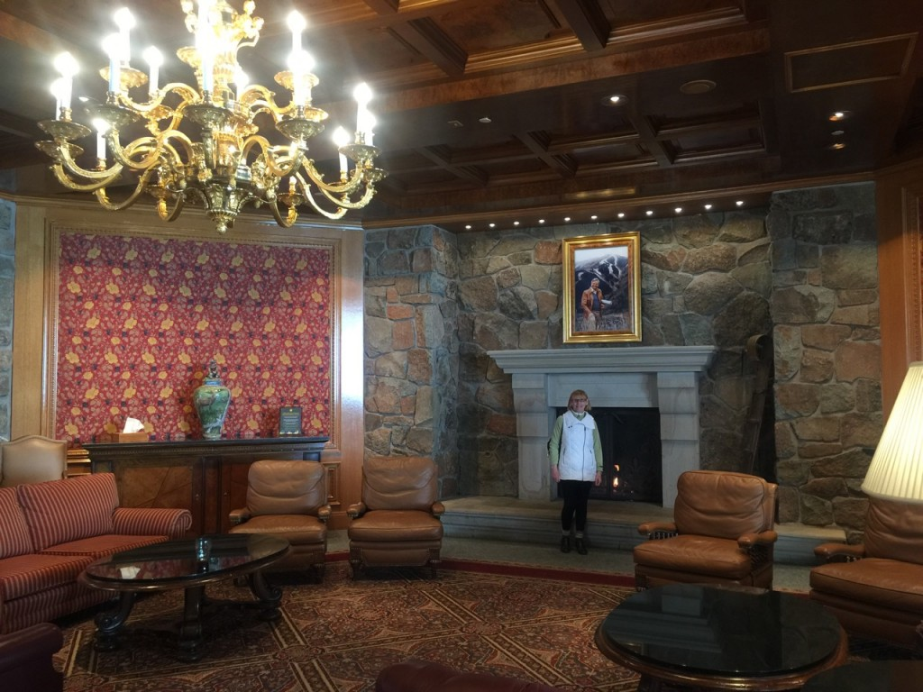 Snow Basin's palatial ski lodge,