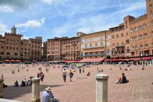 Siena main square. No horse race today.