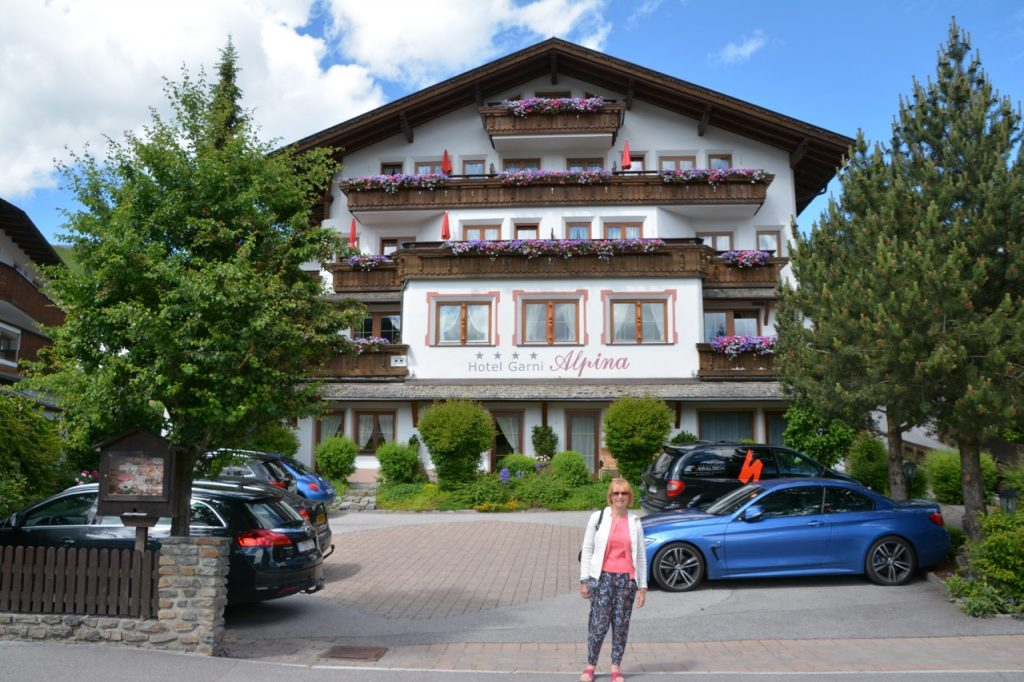 Our hotel in Serfaus.