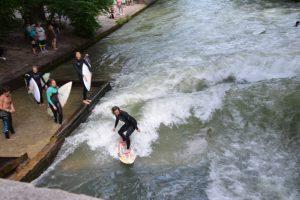 Surfing in Munich.
