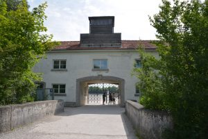 Dachau entrance - truly abandon hope all yea who enter here.