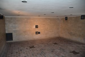 Dachau showers / gas chamber.