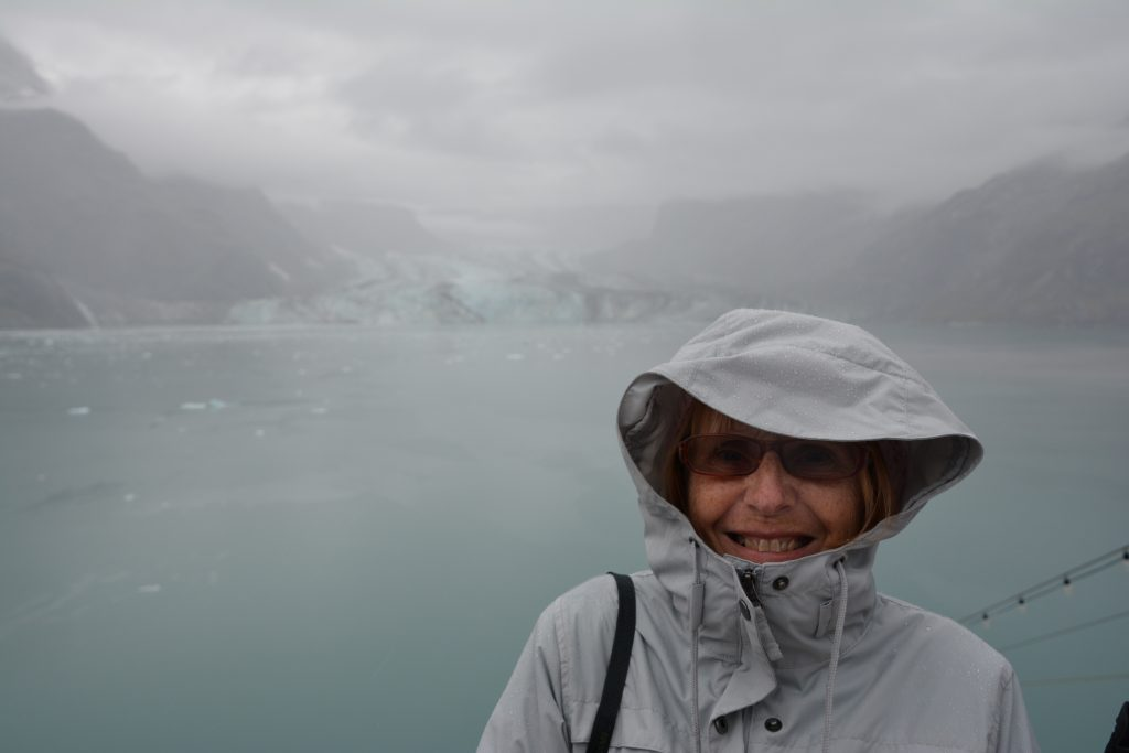 Wendy endures Glacier Bay