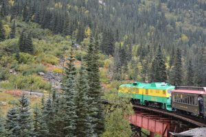 Now a train over White Pass to Canada.