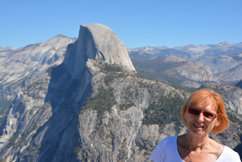 Wendy at Glacier Point.