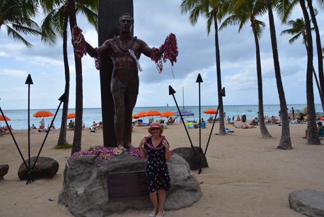 Waikiki beach surfer.