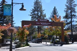 Big Bear lake village.