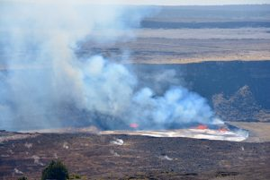 Active volcano crater